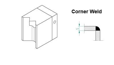 Welding Shoe Corner Weld 5-8mm for 1507-6007, Exon 3A