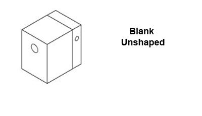 Welding Shoe Blank 45×45 for 1507-6007, Exon 3A