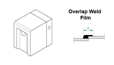 Welding Shoe Overlap (film weld) 40mm for 1507-6007, Exon 3A