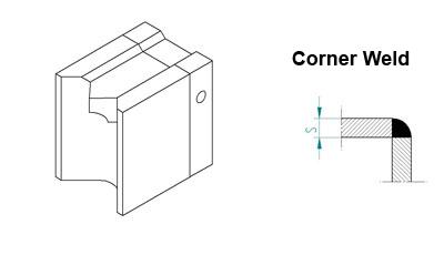 Welding Shoe Corner Weld 8-12mm for Mini